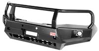 Бампер РИФ передний Toyota Hilux 2015+ с доп. фарами, защитной дугой и защитой бачка омывателя