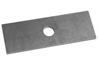 Проставка рессора-мост для УАЗ Буханка 130х45х6 для рессор шириной 45 мм, диаметр отв. 16 мм