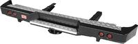 Бампер РИФ силовой задний ГАЗ Соболь с квадратом под фаркоп и фонарями стандарт