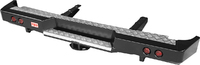 Бампер РИФ задний ГАЗ Соболь с квадратом под фаркоп и фонарями стандарт