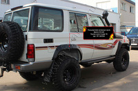 Расширители колесных арок Toyota Land Cruiser 76 2007- (вынос 65 мм)