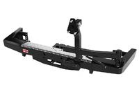Бампер РИФ силовой задний УАЗ Патриот 2015+ с площадкой под лебедку и калиткой, лифт 65 мм