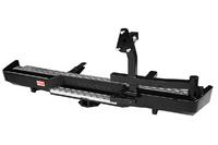 Бампер РИФ силовой задний ГАЗ Соболь с квадратом под фаркоп и калиткой стандарт