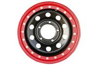 Диск усиленный УАЗ стальной черный 5x139,7 8xR15 d110 ET-19 с псевдо бедлоком (красный)