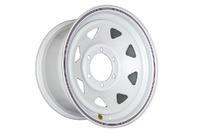 Диск усиленный Тойота Ниссан стальной белый 6x139,7 8xR16 d110 ET+10 (треуг.)