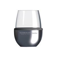 Термобокал для вина WINE KUZIE 440 мл, серебряный