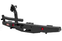 Бампер РИФ силовой задний УАЗ Хантер с площадкой под лебедку, калиткой и фонарями стандарт