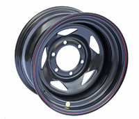 Диск усиленный Тойота Ниссан стальной черный 6x139,7 8xR16 ET-19 (треуг.)