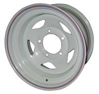 Диск усиленный УАЗ стальной белый 5x139,7 8xR15 d110 ET-19 (треуг.)