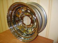 Диск усиленный УАЗ стальной хромированный 5x139,7 8xR15 d110 ET-19