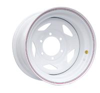 Диск усиленный Тойота Ниссан стальной белый 6x139,7 8xR15 d110 ET-25 (треуг.)