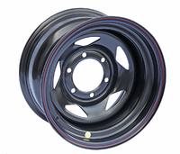 Диск усиленный Тойота Ниссан стальной черный 6x139,7 8xR15 d110 ET-25 (треуг.)