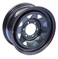 Диск усиленный Тойота Ниссан стальной черный 6x139,7 7xR16 d110 ET+30 (треуг. мелкий)