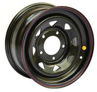Диск усиленный УАЗ стальной черный 5x139,7 8xR17 d110 ET+15 (треуг. мелкий)