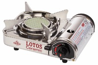 Плита газовая LOTOS CERAMIC портативная, керамическая, в кейсе
