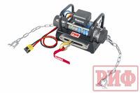 Лебёдка переносная РИФ 8000SR c площадкой на цепях и проводами (синт. трос)