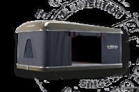 Палатка на крышу автомобиля AUTOHOME MAGGIOLINA CARBON FIBER SMALL, тент серый, лестница 215 мм