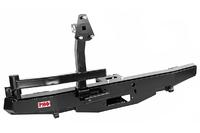 Бампер РИФ силовой задний УАЗ Хантер с площадкой под лебедку и калиткой, лифт 65 мм