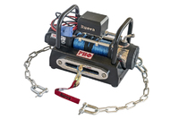 Лебёдка переносная РИФ 6000SR c площадкой на цепях и проводами (в сборе) синтетический трос