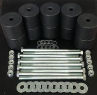 Боди лифт комплект 80 мм УАЗ Патриот капролон (d=60 мм) с крепежом (10 болтов М12x200) чёрный цвет