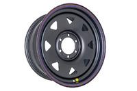 Диск усиленный Тойота Ниссан стальной черный 6x139,7 8xR18 d110 ET+15 (треуг.)
