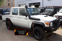 Расширители колесных арок Toyota Land Cruiser 79 2007- (вынос 65 мм)