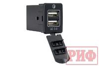 Розетка USB 2 QC 3.0 для Nissan 30x22х38