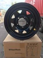 Диск усиленный УАЗ стальной черный 5x139,7 7xR16 d110 ET+15 (треуг. мелкий)