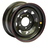 Диск усиленный Тойота Ниссан стальной черный 6x139,7 8xR15 d110 ET-5 (треуг. мелкий)