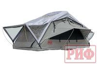 Палатка на крышу автомобиля РИФ Soft RT01-140 усиленная, тент серый