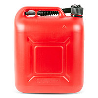 Канистра 20 л. пластиковая вертикальная красная (с насадкой - лейкой)