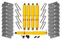 Лифт-комплект РИФ УАЗ Буханка многолистовая (рессоры шириной 45 мм) лифт 54 мм