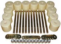 Боди лифт комплект 80 мм УАЗ Хантер капролон (d=60 мм) с крепежом (12 болтов М12x200)