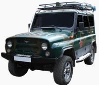 Экспедиционный багажник с креплением за водостоки, с сеткой, для УАЗ 469 / УАЗ 3151