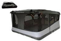 Палатка на крышу автомобиля Grand Raid Evo XXL черная 160х224 см