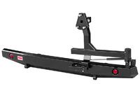 Бампер РИФ силовой задний УАЗ Буханка без квадрата под фаркоп,  с калиткой и фонарями, стандарт