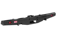 Бампер РИФ силовой задний УАЗ Буханка с площадкой под лебёдку и фонарями, лифт 65 мм