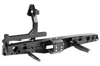 Бампер РИФ силовой задний УАЗ Буханка с площадкой под лебёдку, калиткой и фонарями, лифт 65 мм