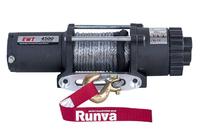Лебёдка электрическая 12V Runva 4500A lbs (синтетический трос)