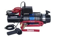 Лебёдка электрическая 12V Runva 12500 lbs 5670 кг (влагозащищенная) синтетический трос