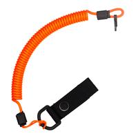 Страховочный тренчик CORD из паракорда с креплением на ремень и карабином (neon orange)