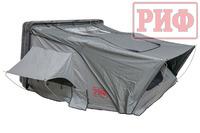 Палатка на крышу автомобиля РИФ Hard RT03-140 усиленная, корпус черный, тент серый