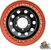 Диск УАЗ стальной черный 5x139,7 8xR16 d110 ET-3 с псевдо бедлоком (оранжевый)