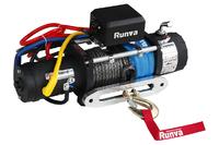 Лебёдка электрическая высокоскоростная 12V Runva 9500 lbs 4350 кг (синтетический трос)