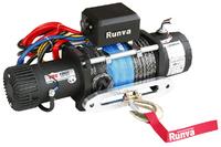 Лебёдка электрическая 12V Runva 12000 lbs 5443 кг (синтетический трос)