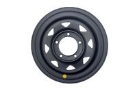 Диск усиленный УАЗ стальной черный (матовый) 5x139,7 8xR15 d110 ET-19 (треуг. мелкий)