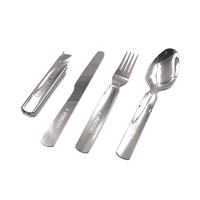 """Набор столовых приборов """"СЛЕДОПЫТ"""", нержавеющая сталь (ложка, вилка, нож, открывашка)"""