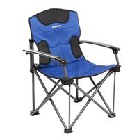 Кресло NISUS складное, алюминиевые подлокотники (синий/серый)