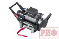Лебёдка переносная РИФ 8000S c площадкой в квадрат для фаркопа и проводами (стальной трос)