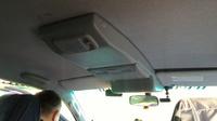 Консоль потолочная для установки р/c Mitsubishi Pajero IV, без выреза под р/c, серая